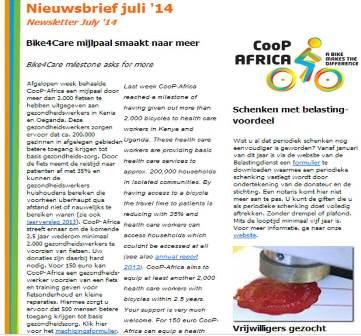 CooP-Africa newsletter